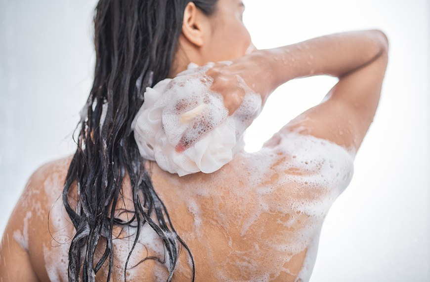 How does body wash add gentleness & softness to the body?